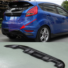 Fiesta MK7 ST Style ABS Rear Bumper Lip Diffuser for Ford Fiesta MK7 2 exhaust pipe export 2008-2012(China)