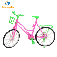 Leadingstar 1 set New Green Plastic Detachable Bike Toys Bike With Basket For Barbie Pop Great Kids Gift zk35