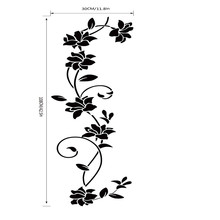 New Wall Sticker Flower Vine Decals Black Mural Removable Vinyl Art Home Decor baby room wallpaper for kids room free shipping