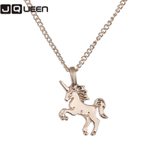1 Pcs Wholesale Women's Jewelry Gold Color Horse/Elephant/Imitation Pearl/Sun/Circle/Heart Pendant&Necklace Clavicle Chain