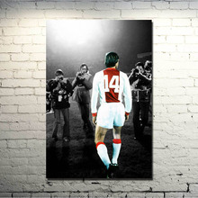Johan Cruyff Football Legend Art Silk Poster Print 13x20 24x36 inch Netherlands Soccer Star Pictures for Living Room Decor 010(China)