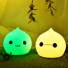 New Rechargeable Waterdrop Silicone Night Light for Kids Baby Children Toddler Infant Tap Control Multicolor Nursery Cute Lamp(China)