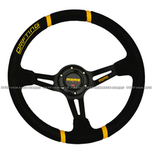 LYJ Car Drifting Steering Wheel Racing Car Suede Steering Wheel 350mm