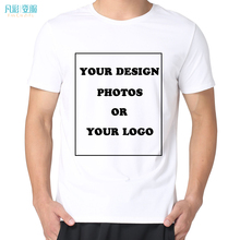Personality Customized Men's t shirt make your design own t shirt High Quality photograph  LOGO Send Out In 3 Days FAN CAI ZI FU