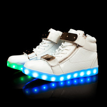 brand lady Luminous basket Glow bambas tenis led  trainers neon tall shoes with light up for adult male Feminino men femme