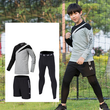 Kids Compression Running Sets Pants Tracksuit Youth GYM Fitness Tights Shorts Jackets Leggings Boys Soccer Basketball Sportswear(China)