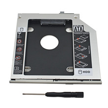 "External Hard Drive 1TB 2nd HDD Caddy 9.5mm SATA 3.0 2.5"" SSD HDD Adapter Case for HP EliteBook 2560P 2570P Optibay"