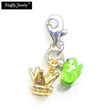 Frog Prince Crown Charm,Thomas Style DIY Accessories Club Good Jewelry For Women,2017 Ts Gift In Silver Fit Bag,Super Deals