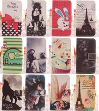 ABCTen NEW Accessory Cartoon Painted Design Cover Protective Flip PU Leather Skin Case For Apple ipod Touch 4 4G