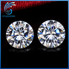 Synthetic diamondes white color 7mm and 2.5mm round brilliant cut moissanites loose gems stones for jewelry making
