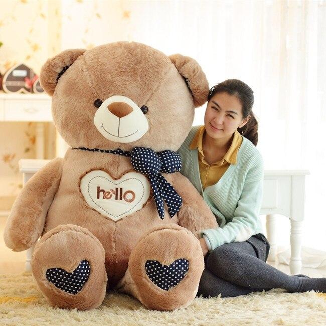 Hello plush teddy bear cloth doll pillow birthday gift<br>