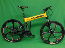 26*18 Inch Aluminum Alloy Mountain Bike 21 Speed Folding Complete Bicycle