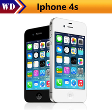 Unlocked Apple iPhone 4S phone 8GB/16GB /32GB/64GB ROM White Black iOS GPS WiFi GPRS  iphone4s mobile Used phone