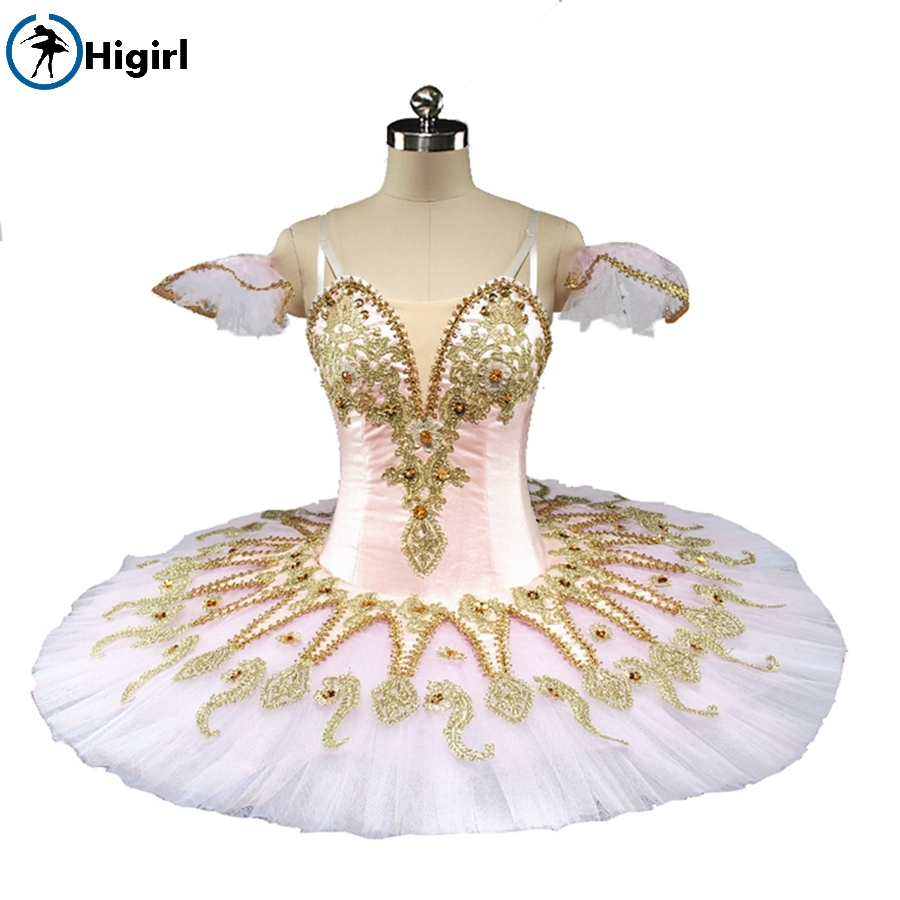 Pink Fairy Nutcracker Women Performance Professional Ballet Tutus Adult Doll Sleeping Beauty Classical Tutu Costumes BT9134