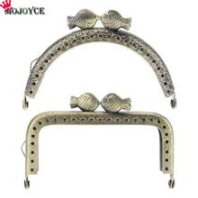 10.5cm Iron Metal Purse Frame Handle for Clutch Bag Handbag Accessories Making Kiss Clasp Lock Bronze Bags Hardware