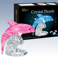 Three-dimensional crystal puzzle 3d assembled Large crystal dolphin