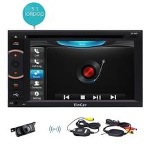 Wireless Rear Camera+ Android 5.1 Car pc Deck Auto Car DVD Player Radio Head Unit 2Din Auto GPS Media HD 1080P Player Wifi SWC