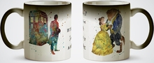 Beauty and the Beast mugs doctor who mugs heat reveal mug heat sensitive mug magic tea dr who coffee