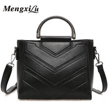 MENGXILU Stitch Women Shoulder Bag Large Capacity Women Handbag High Quality PU Leather Women Crossbody Bag Female Message Bags