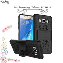 Wolfsay For Cases Samsung Galaxy J5 2016 Silicone Plastic Armor Cover For Samsung Galaxy J5 2016 Case For Case Samsung J5 2016 <