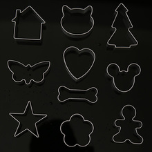 10 pcs Plaque Cutter Cookie Frame Kitchen DIY cartoon cookies mold Cake Stainless Steel Mold B0