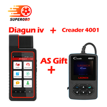Launch X431 Diagun 4 Full System Diagnostic Tool 2 Years Free Update Diagun IV Code Scanner as x431-V CR4001 as Gift(China)