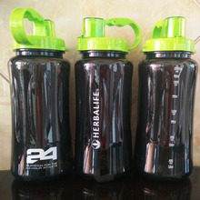 wholesale 1000ml 2000ml /32oz 64oz 2L Shake Sports Water Bottle Food Grade BPA free 24hour Herbalife Nutrition water bottle(China)