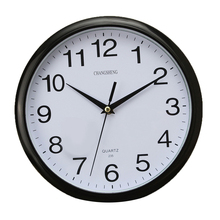 Best Large Vintage Round Modern Home Bedroom Retro Time Kitchen Wall Clock Quartz Black