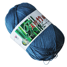 Bestselling 50g Tencel Bamboo Cotton Yarn For Baby--Deep Ink Blue