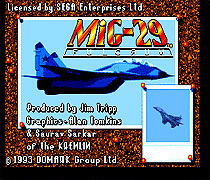 Mig - 29 16 bit MD Game Card For Sega Mega Drive For Genesis