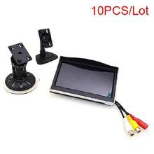 "10 PCS 5"" Car Monitor 12-24V Truck In-Car TFT LCD Screen Suction Cup & Dash Stand for Backup Camera DVD Media Player(China)"