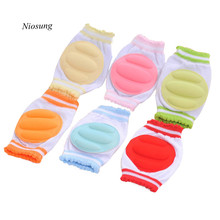 1 pair 2017 New Baby Toddlers Safety Crawling Elbow Cushion Cotton Knee Pads Protective Gear Dropshipping AA6