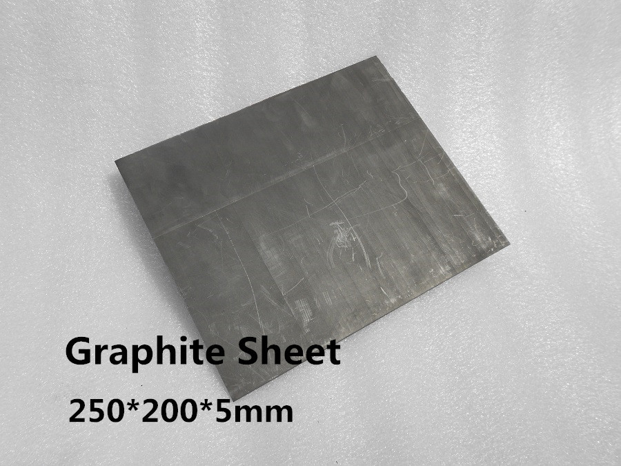 graphite  block sheet  250*200*5mm      ,Graphite Block for Blast Furnace  ,FREE SHIPPING 1PCS<br>