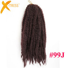 "18"" Crochet Braids Twist Black Brown Pink Afro Kinky Ombre Braiding Hair Jumbo Marley Kanekalon Heat Resistant Synthetic Hair"