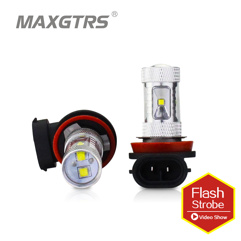 Lighting Assemblies & Components Lights, Bulbs & Indicators auto Led Fog lamp H16 30W 6Smd front Fog lamp 9005-White Light