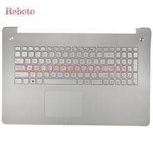 Reboto 100% Original and Brand New English standard Laptop Keyboard for ASUS N750JK N750JV US Layout Without backlit Palm rest(China)