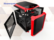 For Computer Case full tower Side through game water cooler support server E-ATX board mini Table transparent chassis frame