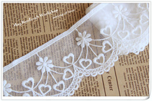 New! 6cm Japanese Pattern Embroidery Lace Trim/Ribbon,Voile Wedding Dress Lace Trims,Mesh Embroideried Laciness Tape,14yards/Lot(China)