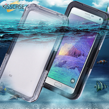 KISSCASE Note 4 Capa Waterproof Case Clear Hybrid Swimming Dive Case For Samsung Galaxy Note 4 N9100 Shockproof Protected Bag