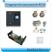 DIY D1  Fingerprint+RFID card+password access control Attendance Time Clock time recorder (DC 12V)+10pcs card
