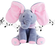 Plush Elephant Singing Baby Plush Toy Stuffed Animted Soft Toy Kids Gift Body Music Danceing Plush Toys Christmas Gifts(China)