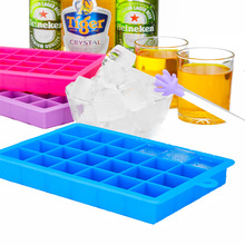 Set of 2pcs Silicone Ice Cube Trays 24 Grid Square Ice Mold Durable Non-toxic Ice Maker Cocktail Bar Tools Kitchen Accessories(China)