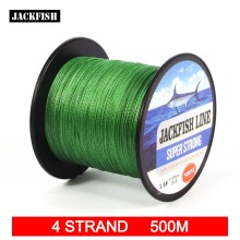 JACKFISH  4 strand 500M Super Strong PE Braided Fishing Line 10-60LB PE Fishing Line With gift Carp Fishing Saltwater