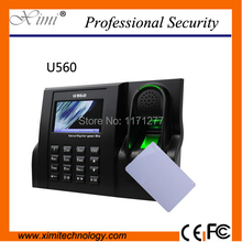 13.56MHz fingerprint time attendance machine Linux system 3 inches TFT Screen tcp/ip biometric time attendance(China)
