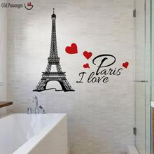 Old Passenger _ New Paris Tower Room Wall Decoration Wall Stickers For Kids Rooms Home Decoration Accessories Kitchen