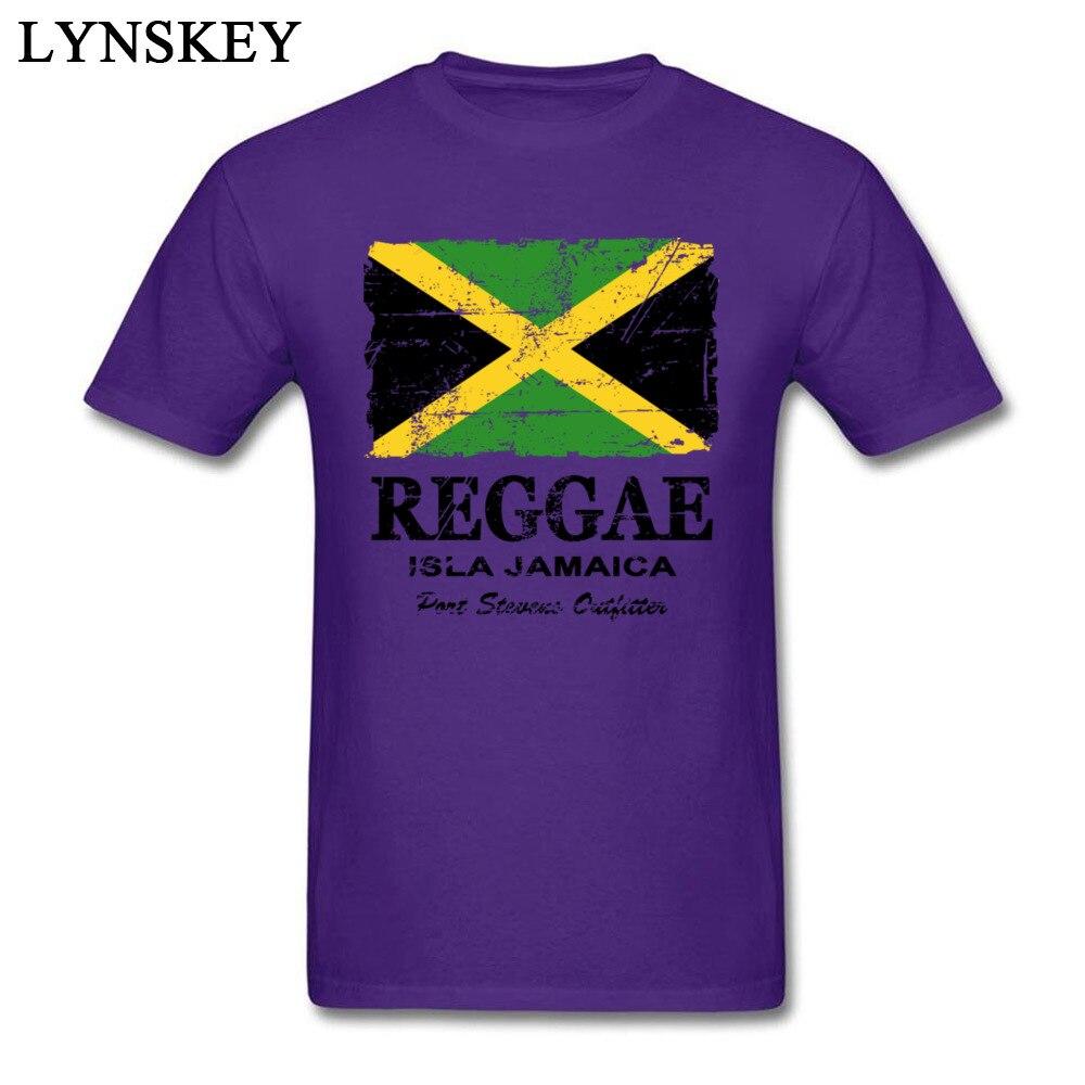 T-Shirt Normal Short Sleeve Funny Crew Neck 100% Cotton Tops T Shirt Group Summer Fall Reggae Jamaica Flag Tee Shirt for Boys Reggae Jamaica Flag purple