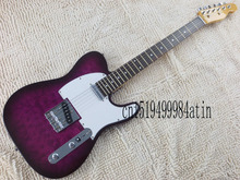 Free shipping new  TELE telecaster electric guitar handmade pattern purple spot sale guitar  @7