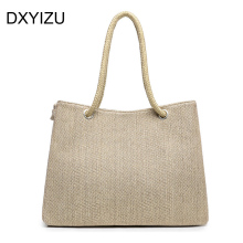 Summer style Beach Bag capazos de playa jute beach baskets bags for women messenger bags best handbag brand famous tote bag new(China)
