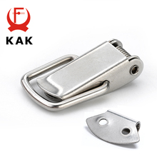 5PCS KAK J107 Hardware Cabinet Boxes Spring Loaded Latch Catch Toggle Hasp 46*21 Mild Steel Hasp For Sliding Door Simple Window(China)
