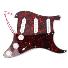 Homeland Red Tortoise Shell Color 3-ply PVC Metal Guitar Loaded Pickguard Pick GuardPrewired Scratch Plate For Fender Stratocast(China)